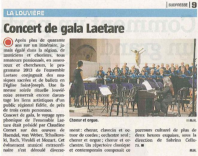 Concert de Gala du 26 janvier 2013