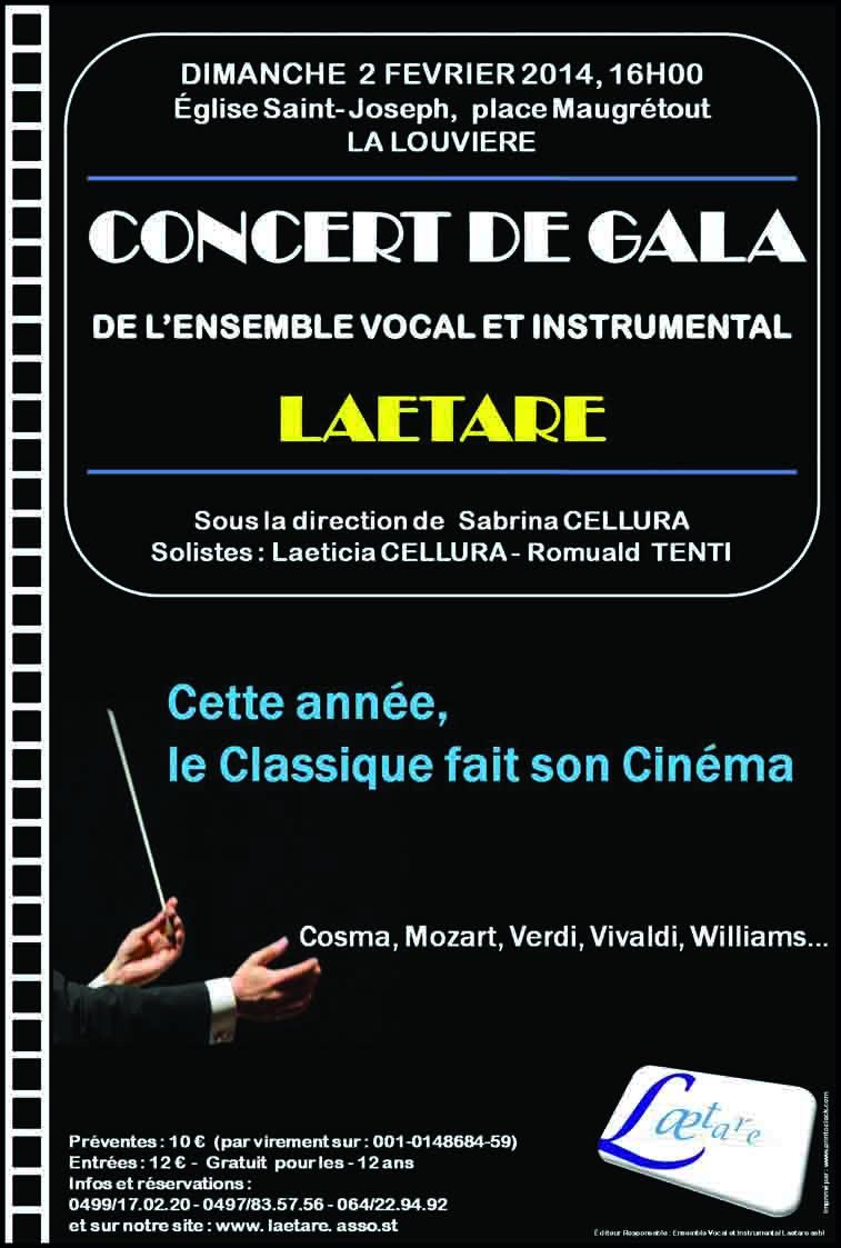 Affiche du concert de gala