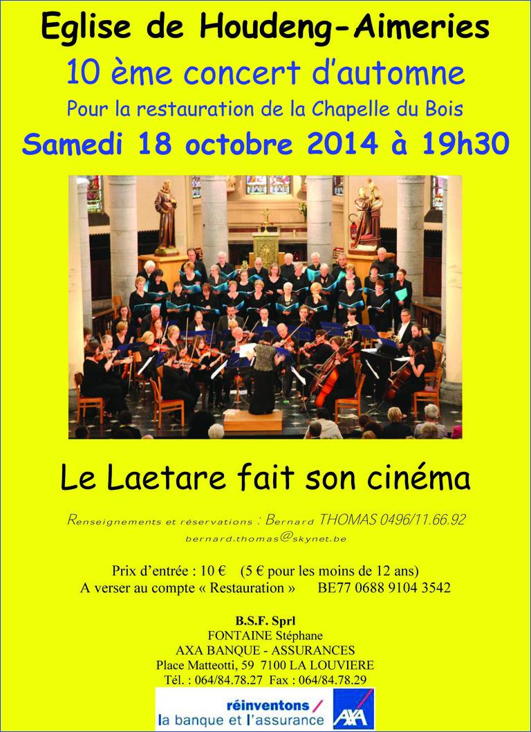 Concert du 18 octobre 2014